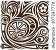 Vector abstract pattern. tattoo - stock vector