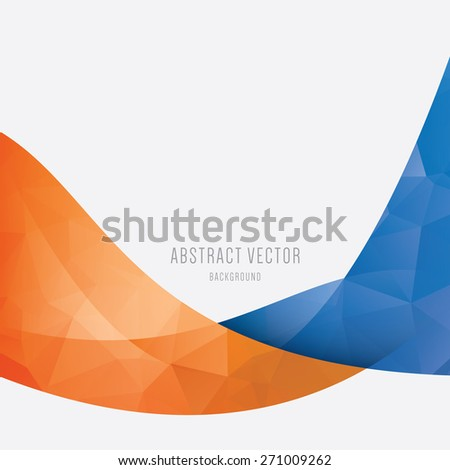 Blue Orange Abstract Background |Orange And Blue Vector Background
