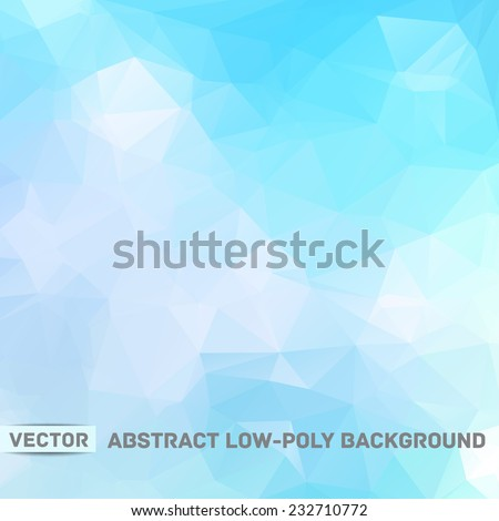 Vector abstract polygonal blue background - stock vector