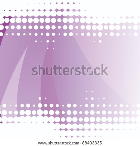 Vector Abstract purple background with dots elements - stock vector