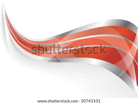 Vector abstract red background; clip-art - stock vector