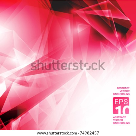 vector abstract red backgrounds - stock vector