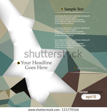 Vector abstract retro geometric background with shadows and space for text - eps10 - stock vector