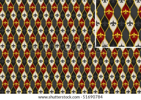 Vector abstract royal lily background - stock vector