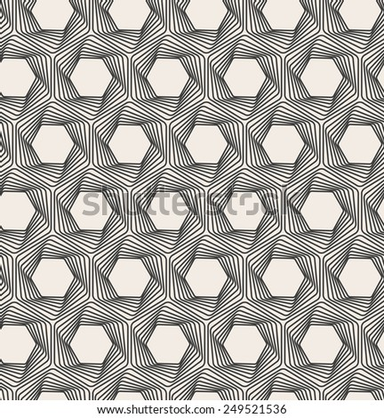 Vector abstract seamless background. Line pattern. Optical illusion - stock vector