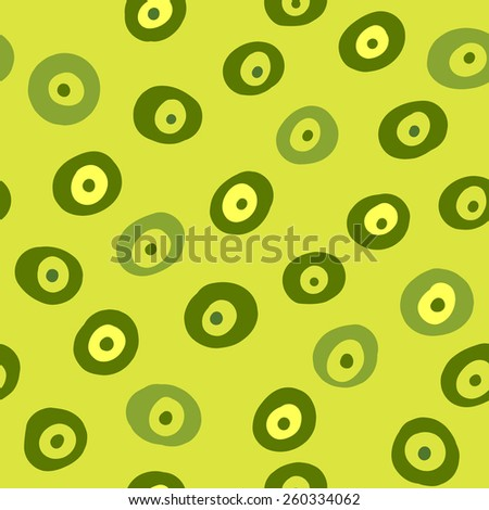 Vector abstract seamless pattern with circles.  Endless texture for wallpaper, fill, web page background, surface texture. - stock vector