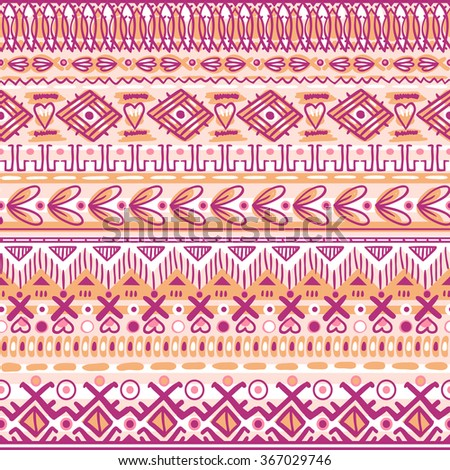 vector abstract seamless pattern with embroidery imitation - stock vector