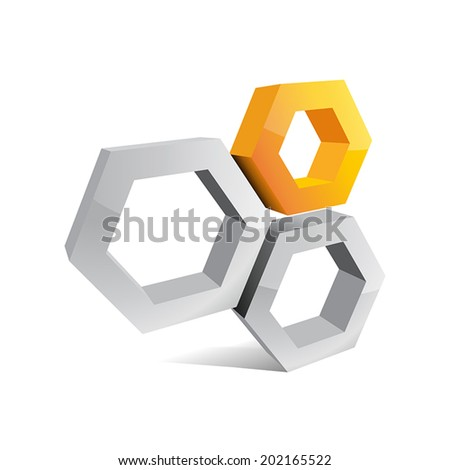 Vector abstract sign beehive - stock vector