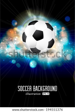 Vector abstract soccer ball brochure illustration.