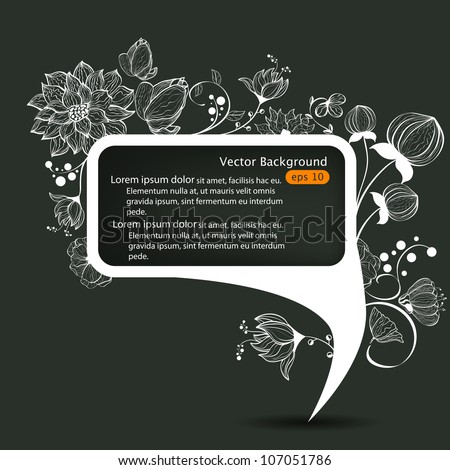Vector abstract speech bubble - stock vector