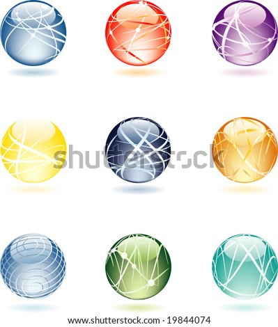 vector abstract spheres - stock vector
