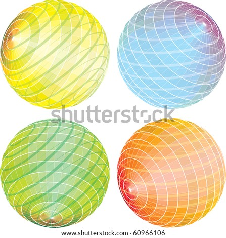 vector abstract spheres in rotation, eps 10 - stock vector