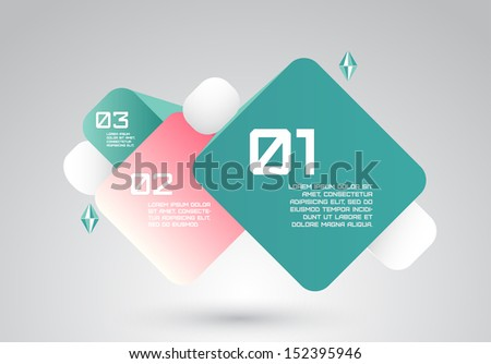 Vector abstract squares infographic business background