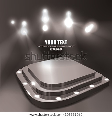 Vector Abstract Stage - stock vector