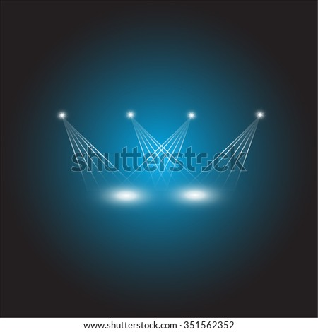 Vector abstract stage light background - stock vector
