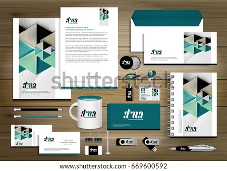 Vector abstract stationery editable corporate identity stock vector abstract stationery editable corporate identity template design gift items business color promotional souvenirs elements negle Image collections