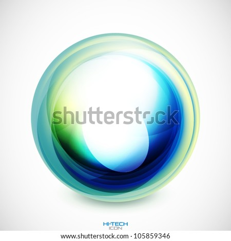 Vector abstract swirl round shape - stock vector