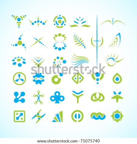 Vector abstract symbol collection - stock vector