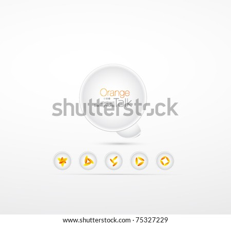 Vector abstract talk background with floral elements - stock vector