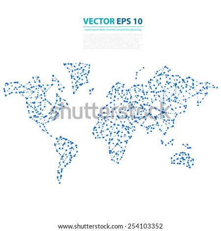 Vector abstract telecommunication earth map world stock vector vector abstract telecommunication earth map world map connection illustration gumiabroncs Images