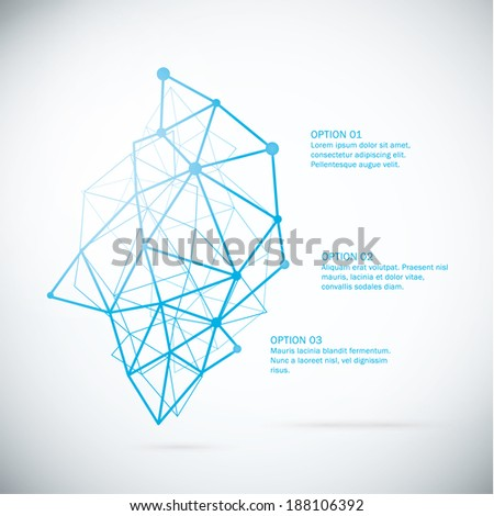 Vector abstract template. Decorative banner with place for your text. Futuristic technology - geometrical structure. - stock vector