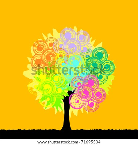 vector abstract tree background