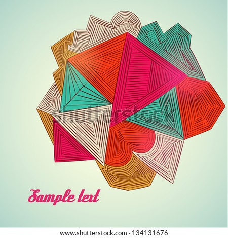 Vector abstract triangles template background - stock vector