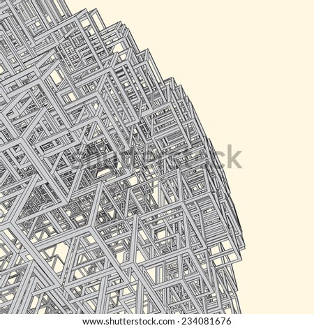 Vector Abstract Urban Background. - stock vector