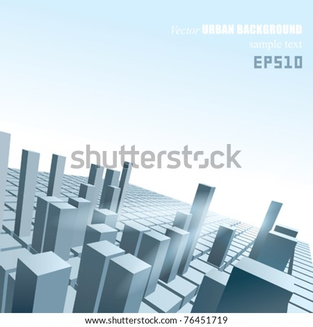 VECTOR Abstract Urban Background - stock vector