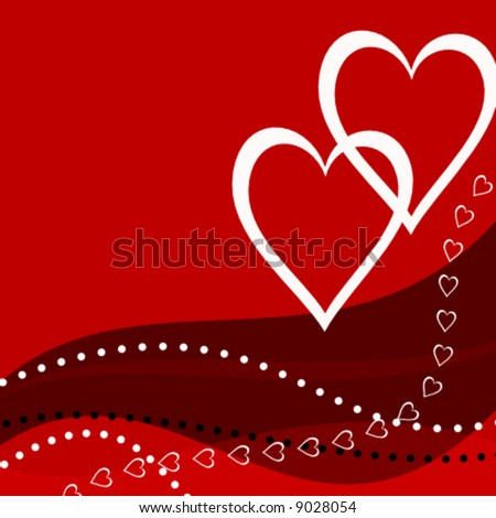 vector abstract valentine card - stock vector
