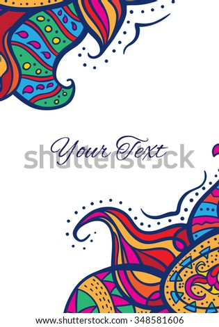 Vector abstract vertical invitation card with place for your text.