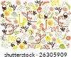 vector - abstract wallpaper with graphics animals - stock vector