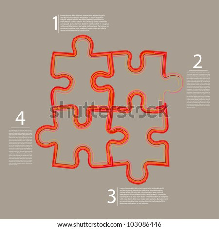 Vector abstract web puzzle. Creative background. Eps 10 - stock vector