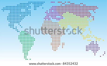 vector abstract world map - stock vector