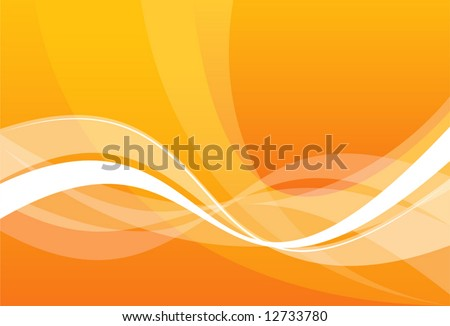 vector abstraction with white lines on an orange background - stock vector
