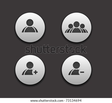vector add delete  & user group web icon set design element. - stock vector