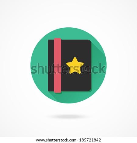 Vector Address Book Icon - stock vector