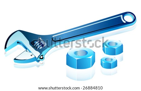 Vector adjustable spanner with screws.