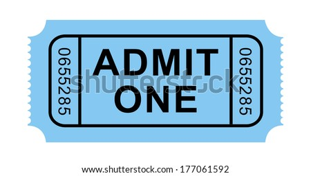 Vector Admission Ticket - stock vector