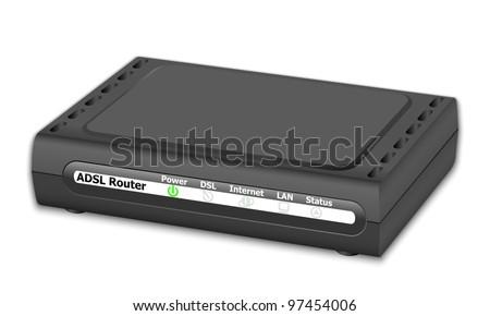 Vector ADSL Router - stock vector