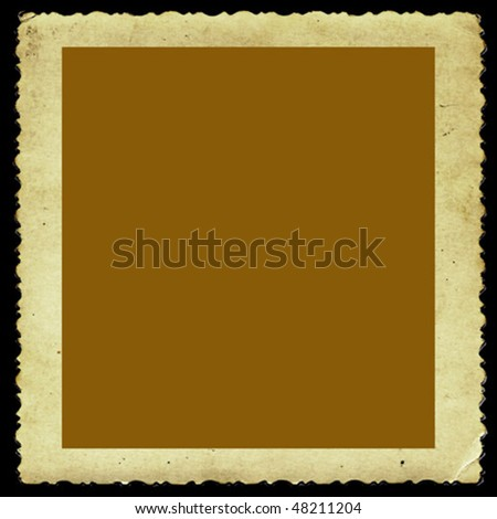 vector aging photographic paper - stock vector
