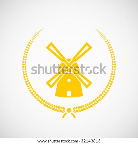 Vector agro-industrial sign. - stock vector