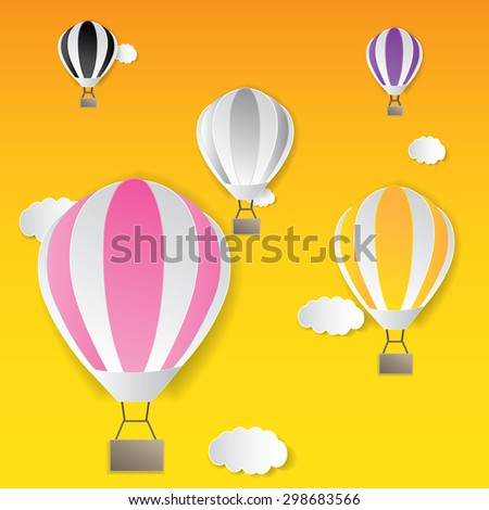 Vector air ballons background