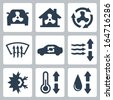 Vector air conditioning icons set - stock vector