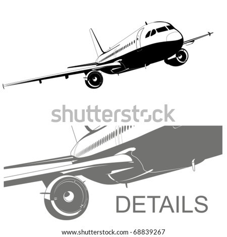 Vector airliner - stock vector