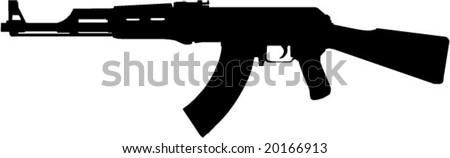 Vector ak47 - stock vector