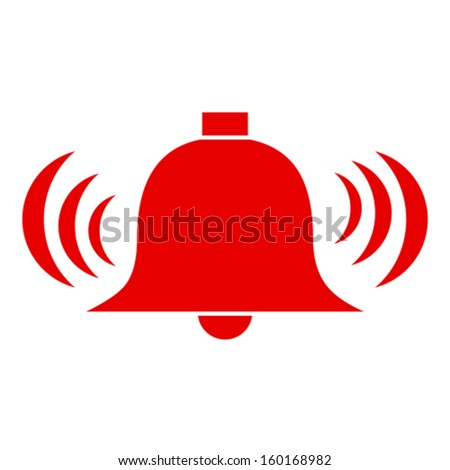 Vector alarm bell - stock vector
