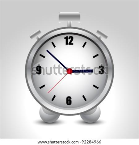 vector alarm clock icon - stock vector