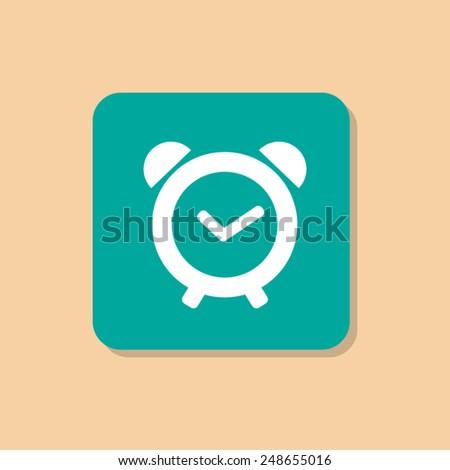 Vector Alarm Clock Icon Symbol - stock vector