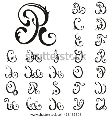 Vector. All Capital Letter For Your Fairytale - stock vector